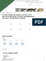 6y-8765 Pompe Gp-gear s _ n Fcd1-Up 2 Section Partie de 144-2234 Transmission Ar Type 2 12h Moteur Grader _ Avspare.com