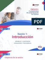 Phyton Sesión 1 (PDF Descargable)
