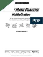 Speedy Math Practice - Multiplication