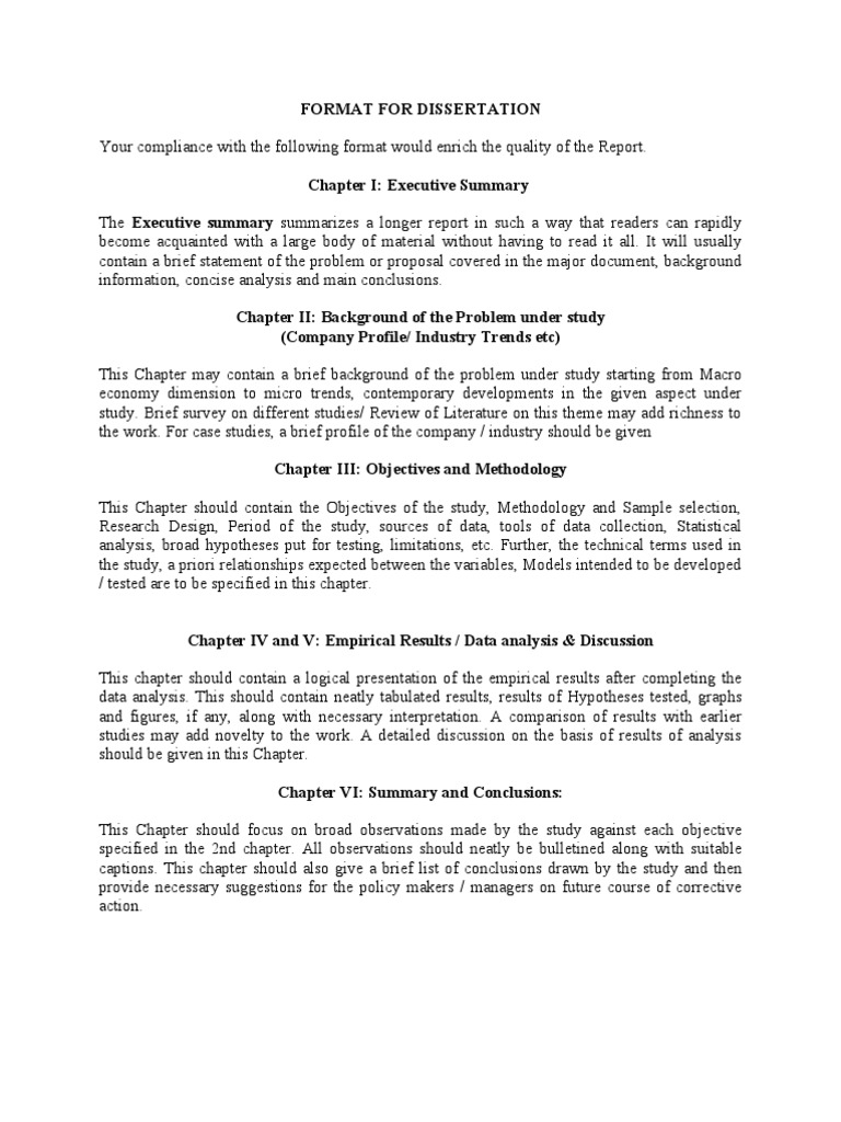 FORMAT FOR DISSERTATION REPORT   Thesis   Data Analysis