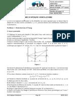 Série Optique Ondulatoire 2020-2021