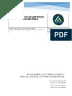 Anexo 2. Procedimiento de trabajo seguro para el control de trabajos mecánicos