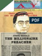 Controversial cultic preacher Erano Manalo is a Multi-Billionaire Pastor