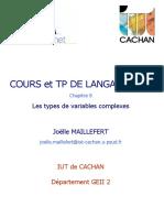 LES TYPES DE VARIABLE EN C++
