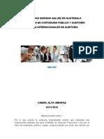 INFORME DE AUDITORÍA INDEPENDIENTE caso 3 por siniestros
