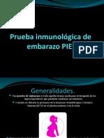 Prueba inmunológica de embarazo PIE [Autoguardado]