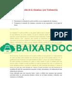 Baixardoc.com Determinacion de La Vitamina c Por Yodometria