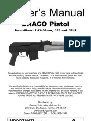 DRACO owners manuel | Firearms | Gun Barrel
