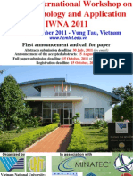 First Announcement of International Workshop on Nanotechnology and Application IWNA 2011 - Mar 3 2011