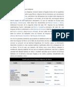 Clasificación de las lenguas indígenas