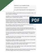 LOS TIEMPOS DE DIGESTIÓN Y LAS COMBINACIONES