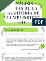 ANALISIS DE LAS GUIAS DE AUDITORIA DE CUMPLIMIENTO