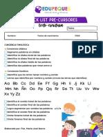 Checklist Precursores Lecto-escritura (1)