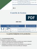 Séance 10 Contrôle de gestion S6G E1 20 - 21