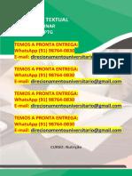 """""""Alimentação Saudável e Promoção Da Saúde"""" Temos a Pronta Entrega WhatsApp (91) 98764-0830"""