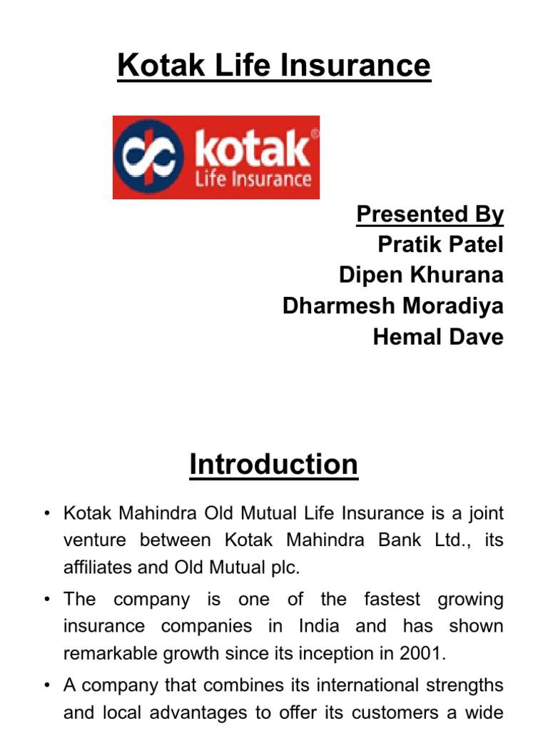 Kotak Life Insurance   Life Insurance   Insurance
