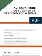 Factores en la elección vocacional