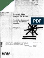Transonic Flow Analysis for Rotors