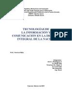 Tecnologías de La Información y La Comunicación en La DIN