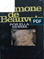 Beauvoir, Simone (1982) - Simone de Beauvoir por ella misma