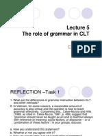 Role of Grammar in CLT