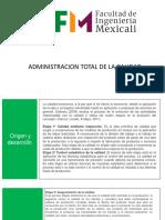 ADMINISTRACION TOTAL DE LA CALIDAD