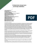 GAS DEHYDRATION DESIGN STEPS