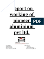 Report on working of pioneer aluminium pvt ltd