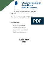 trabajo  1 y 2 quechua saludos