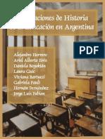 Investigaciones de Historia de la Educación en Argentina Alejandro Herrero