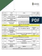 CRONOGRAMA DE ACTIVIDADES VIRTUAL- MARTES