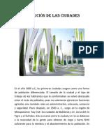 Evolución de las ciudades