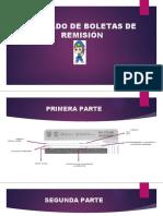 LLENADO DE BOLETAS DE REMISIÓN