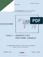 Generalites Anatomie Animale -Tome 1 - Usaid