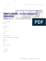 VENTA ONLINE – Sector Comercio y Marketing