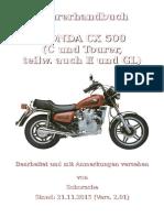 Fahrerhandbuch Honda CX 500