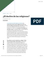 El Declive de Las Religiones LA NACION