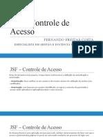 JSF - Controle de acesso