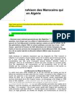 La double trahison des Marocains qui gouvernent en Algérie et Voilà comment sont nés les services secrets algériens Colonel Ali Hamlet & Chafik Mesbah
