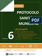 Caderno 6_ Protocolo Sanitário Municipal EDUCAÇÃO_ completo_ Implementação Plano SP em Campinas_ EDIÇÃO 4_ 06-10