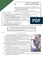 4º Simulado - 1ª Etapa - Liingua Portuguesa