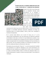 PROBLEMÁTICAS DE MOVILIDAD EN LA AVENIDA SIMÓN BOLÍVAR CON LA CALLE 36 EN LA ZONA