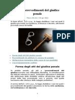 5   Atti e provvedimenti del giudice penale