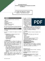 Guide  pour la préparation des memoires et thèses