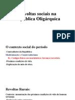 Revoltas sociais na República Oligárquica