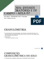 A05 - Granulometria Por Peneiraemnto e Sedimentação