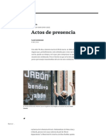 """Caro artista colombiano  por Camnizter """"Actos de presencia"""" 2021"""