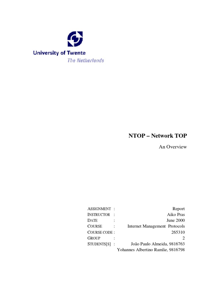 ntop-overview | Transmission Control Protocol | Computer Network
