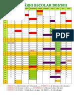 Calendário Escolar 2010-2011 - 2
