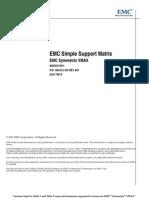 EMC Simple Support Matrix EMC Symmetrix VMAX